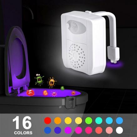 16-Color UV Sterilizer Motion Activated LED Toilet Night Light (HHI-556723)