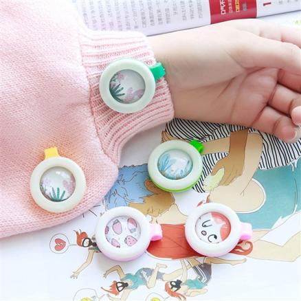 1/2/4 pcs Baby Mosquito Repellent Clip Natural Plant Fragrance Create for Kids (TTH-529370)