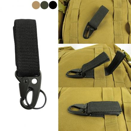 Tactical Nylon Ribbon Buckle Keychain Caraciners Olecranon Hook Molle Hook (NLC-545801)
