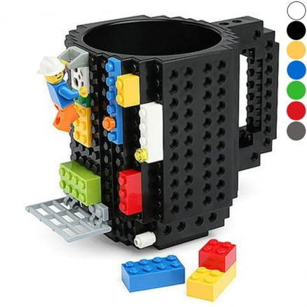 Build-On Brick Mug Coffee Cup DIY Type Plastic Creative Building Blocks (HHI-539370)