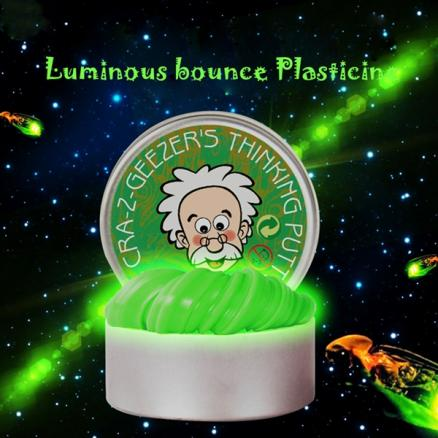Luminous Bounce Plasticine Slime DIY Mud Stress Relief Toys for Kids Adults (TTH-546120)