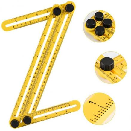 1/2/4 pcs Utility&Multi-functional Ruler Template Tool Measuring Template (TDS-530290)