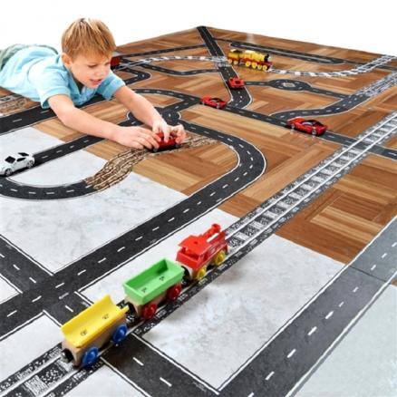 DIY Creative Traffic Road Railway Tape Play Learning Toy Tape Children Gift (TDS-541591)