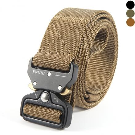 3.8x125CM Men Tactical Belt Quick-Release Nylon Waist Belts with Metal Buckle (DBL-543280)