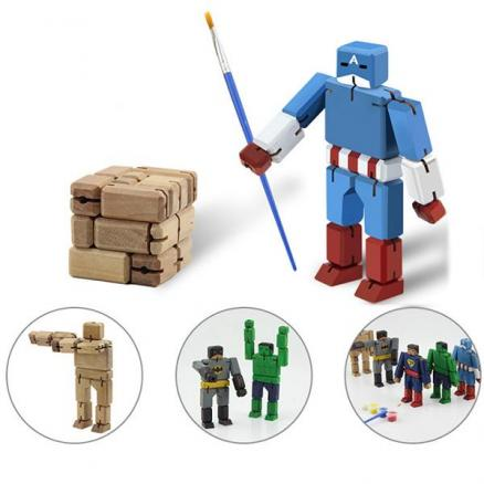 Creative DIY Wooden Deformation Robot Magic Cube Free Coloring Wood Kid's Toys (TDS-543949)