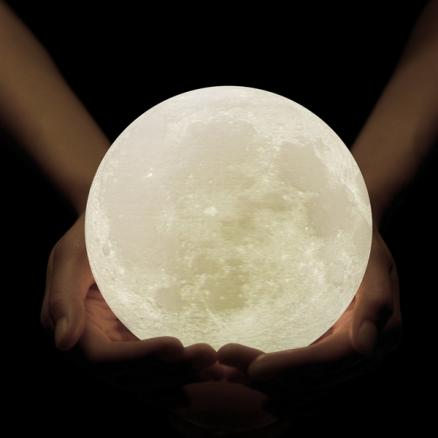 3D Printing Moon Lamp Rechargeable Night Light Dimmable Touch Control Brightness (HHI-533868)