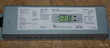 LDX36/3 DMX driver/dimmer max. 36x3W Luxeon LED