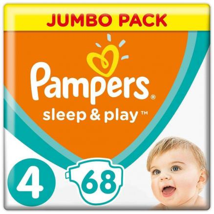 Подгузники Pampers Sleep&Play 4 (8-14 кг) 68 шт