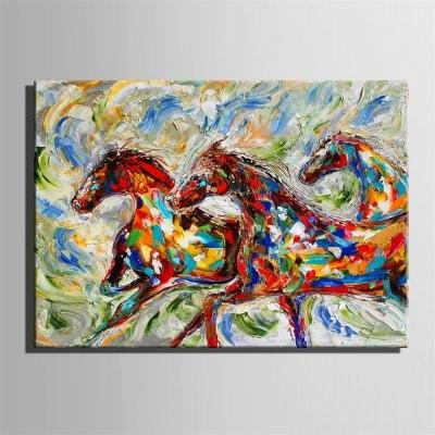 Special Design Frameless Running Horse Paintings Style Running Print
