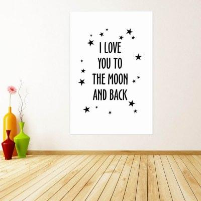 W257 Letters Unframed Wall Canvas Prints for Home Decoration