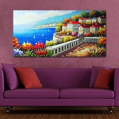 FJ0013 A Village on the Coast Print Art