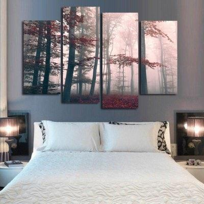 Mysterious Forest Frameless Printed Canvas Wall Art Paintings 4PCS