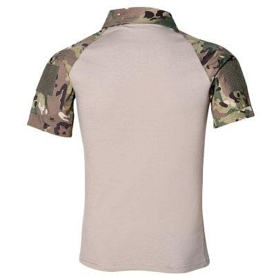 Men's Outdoor Short Sleeve Wear-resistant Camouflage Military Training Clothing