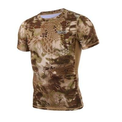 Men's Outdoor Short-sleeved Quick-drying Camo T-shirt
