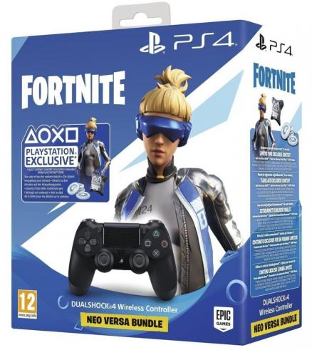 PlayStation DUALSHOCK 4 + Fortnite Neo Versa Bundle (черный)
