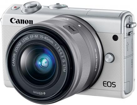 Canon EOS M100 Kit 15-45 IS STM (белый)