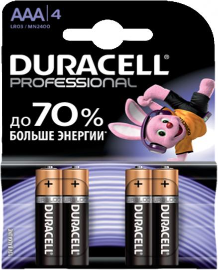 Duracell Professional LR03-4BL AAA (блистер 4 шт)