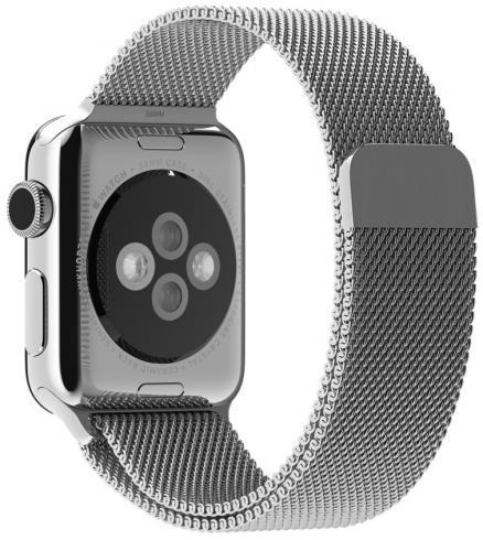 Ремешок Apple Milanese Loop для Apple Watch 38 мм (серебристый)