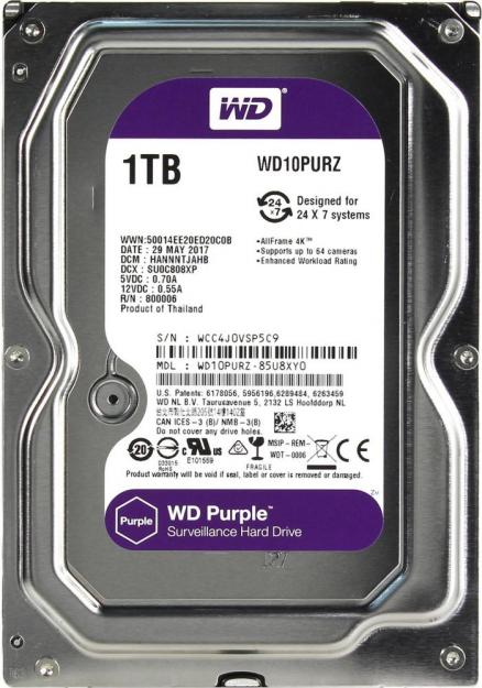 WD Purple 1TB 3,5""
