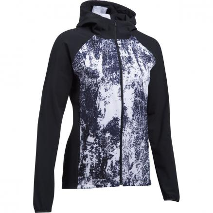 Женская куртка Under Armour Out Run The Storm Full Zip Hooded Printed 1304715-001