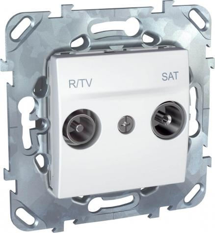 Розетка R-TV/SAT проходная Schneider Electric Unica MGU5.456.18ZD
