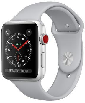Apple Watch Series 3 Cellular 42mm Silver Aluminum Case with Fog Sport Band MQK12