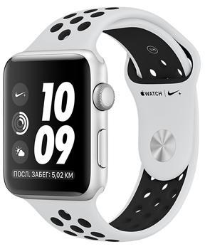 Apple Watch Series 3 Nike+ 42mm Silver Aluminum Case with Pure Platinum/Black Nike Sport Band MQL32