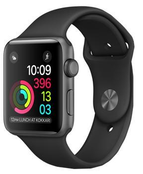 Apple Watch Series 1 42mm space grey aluminium case with black sport band MPO32