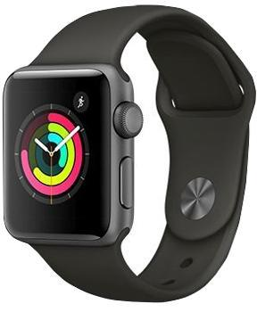 Apple Watch Series 3 42mm Space Gray Aluminum Case with Gray Sport Band MR362