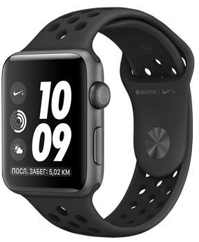 Apple Watch Series 3 Nike+ 38mm Space Gray Aluminum Case with Anthracite/Black Nike Sport Band MQKY2