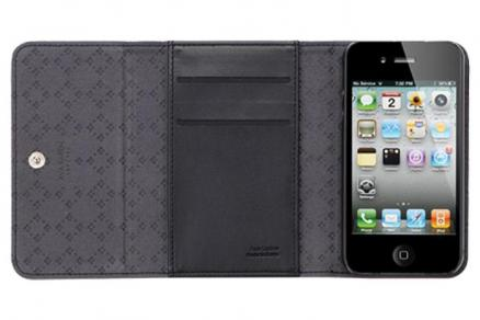 Чехол для iPhone 4/4S SGP Ava Karen Leather Case Black