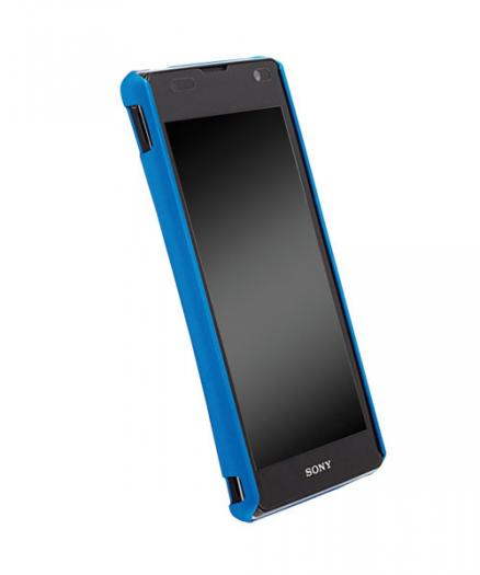 Чехол для Sony Xperia TX Krusell ColorCover Blue Metallic