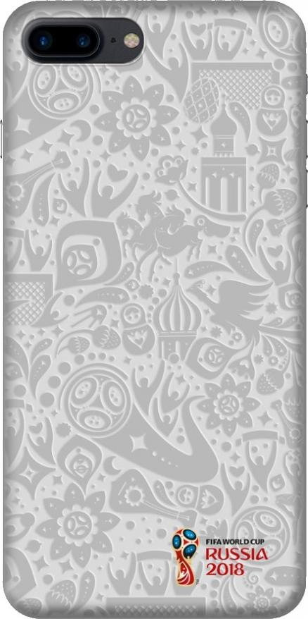 чехол PC для Apple iPhone 7/8 Plus, FIFA_Official Pattern_white, Deppa 103919