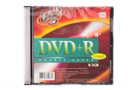 Диск DVD+R 8.5 Gb 2.4x/8x Printable DL VS