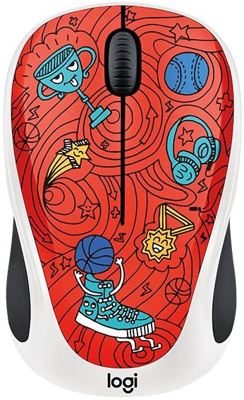 Logitech Wireless Mouse M238 Champion Coral Doodle
