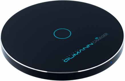 Qumann QWC-02 Wireless Disc Qi Fast Charger чёрный