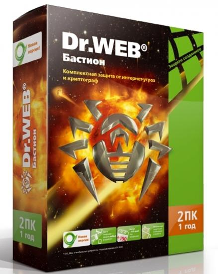 Dr.Web Security Space Pro + Atlansys Бастион (BEW-W12-0002-1)