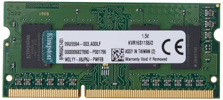 Kingston 2Gb DDR3 SoDIMM (KVR16S11S6/2)